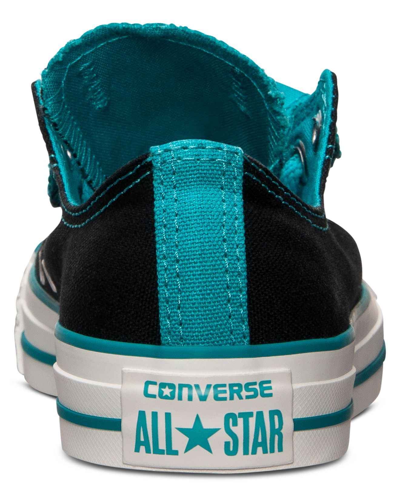 c7d7b0fe79fc Lyst - Converse Women S Chuck Taylor All Star Double Tongue Casual Sneakers  From Finish Line in Black