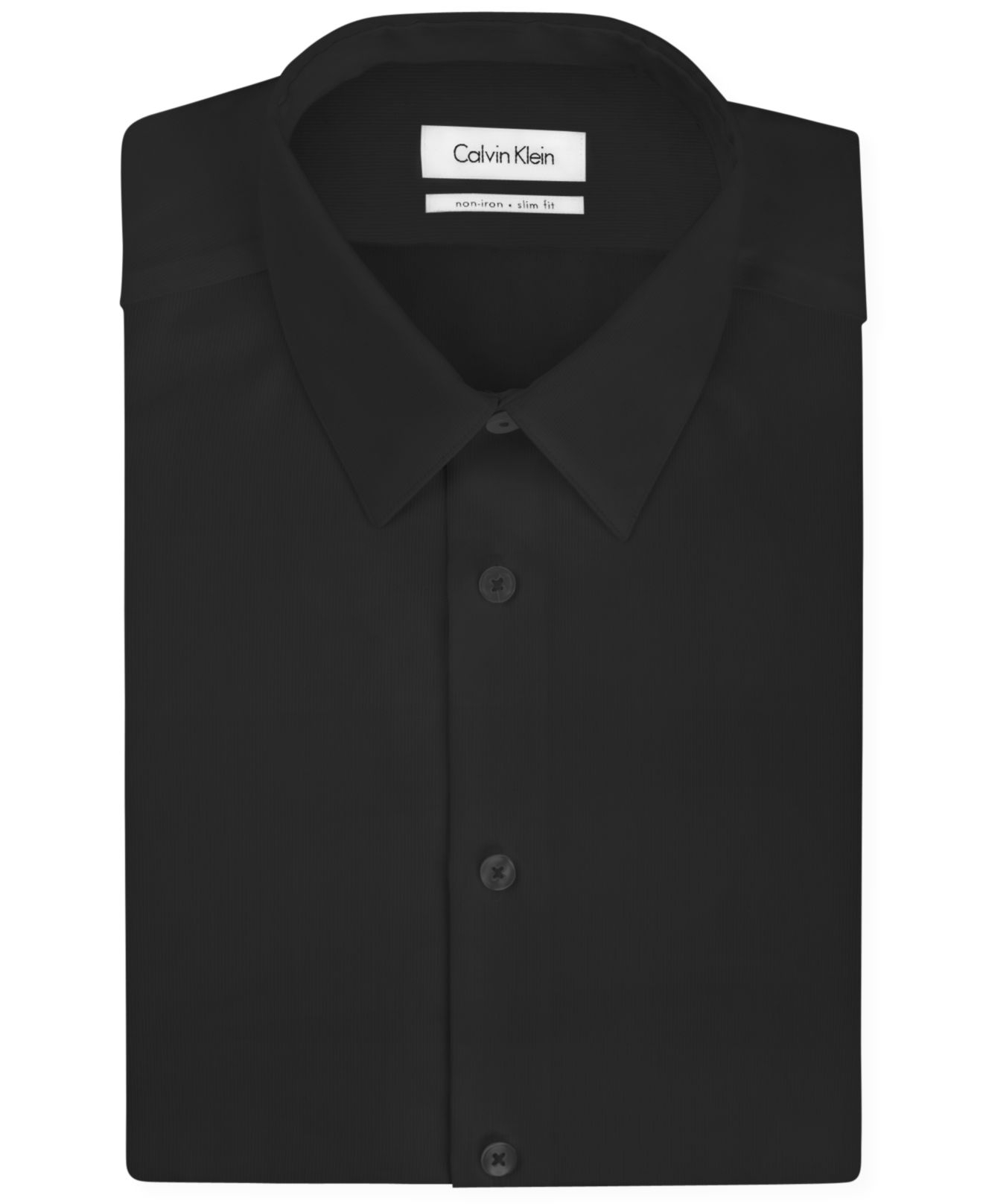 Calvin klein steel slim fit non iron textured solid dress for Slim fit non iron shirts