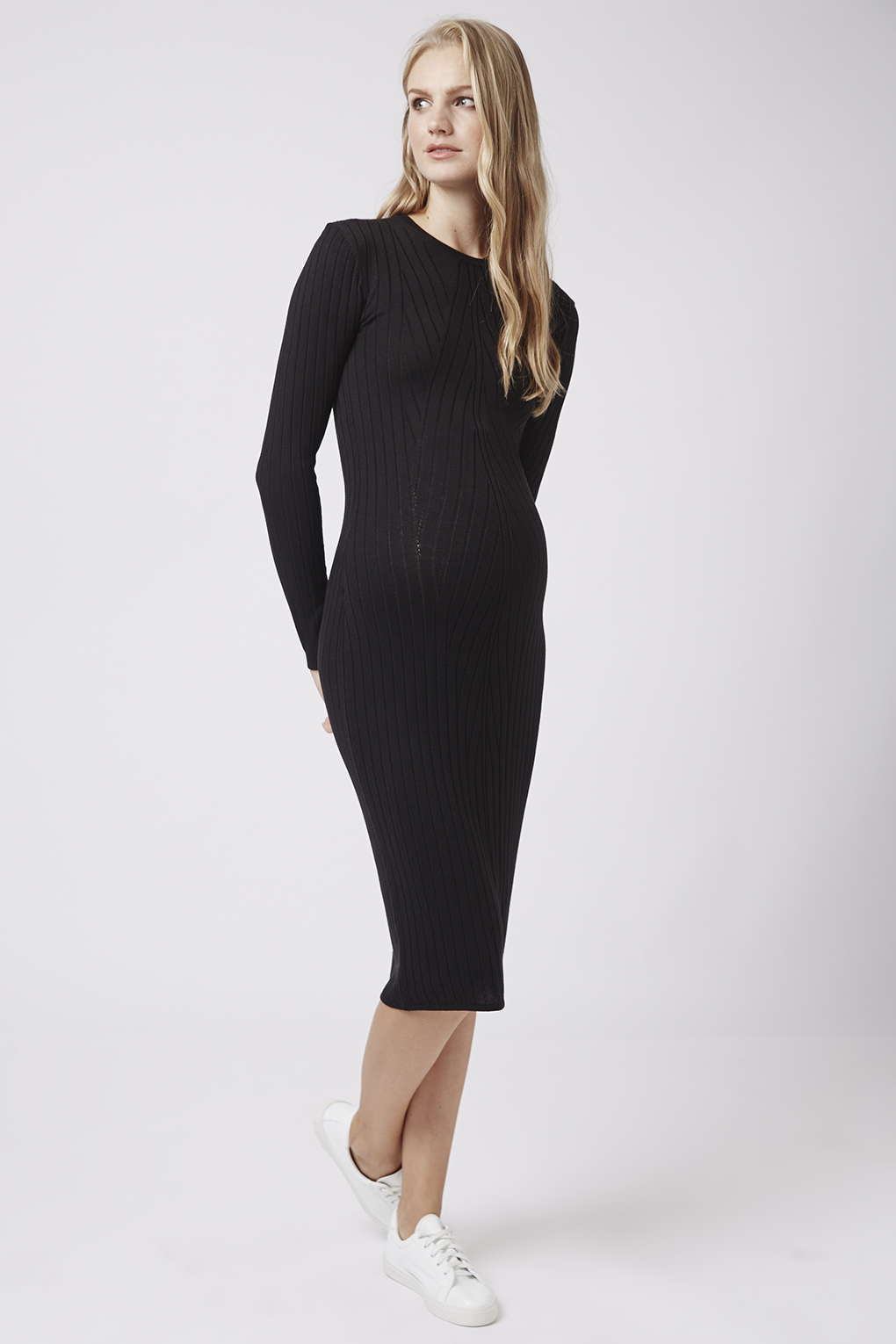 Topshop maternity travelling rib dress in black lyst gallery ombrellifo Choice Image