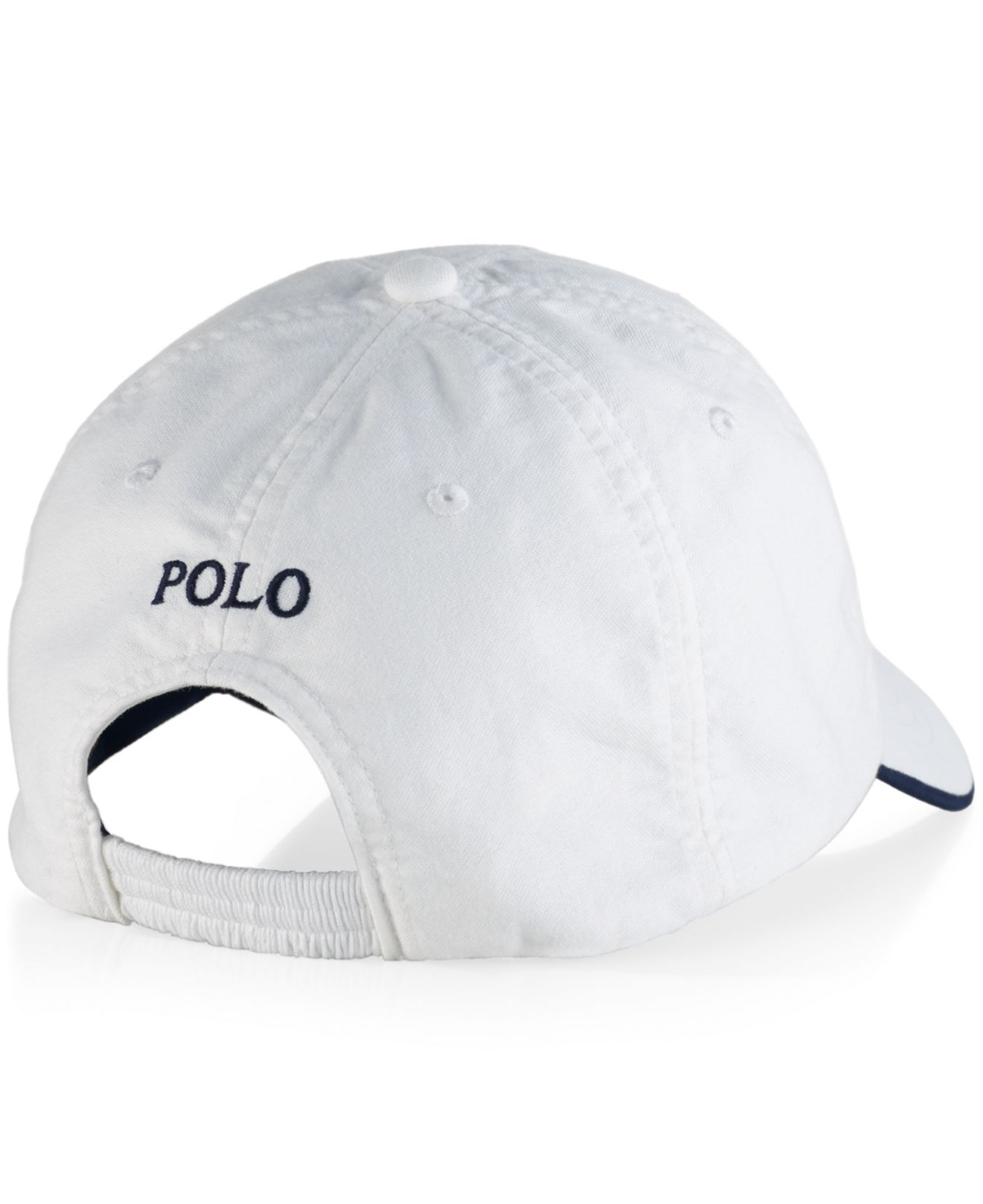 polo ralph lauren oxford heritage cap in white for men lyst. Black Bedroom Furniture Sets. Home Design Ideas