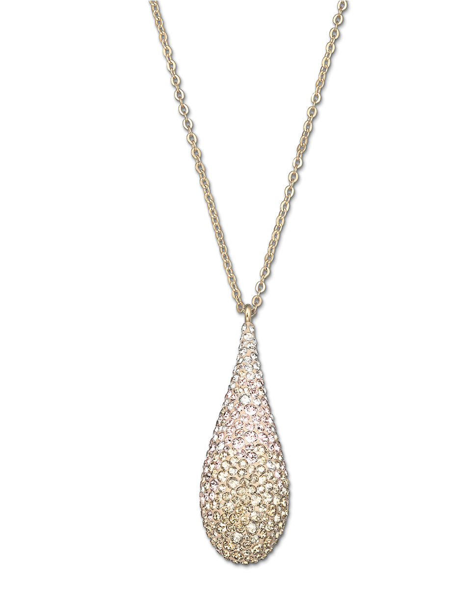 swarovski abstract gold tone and pendant necklace