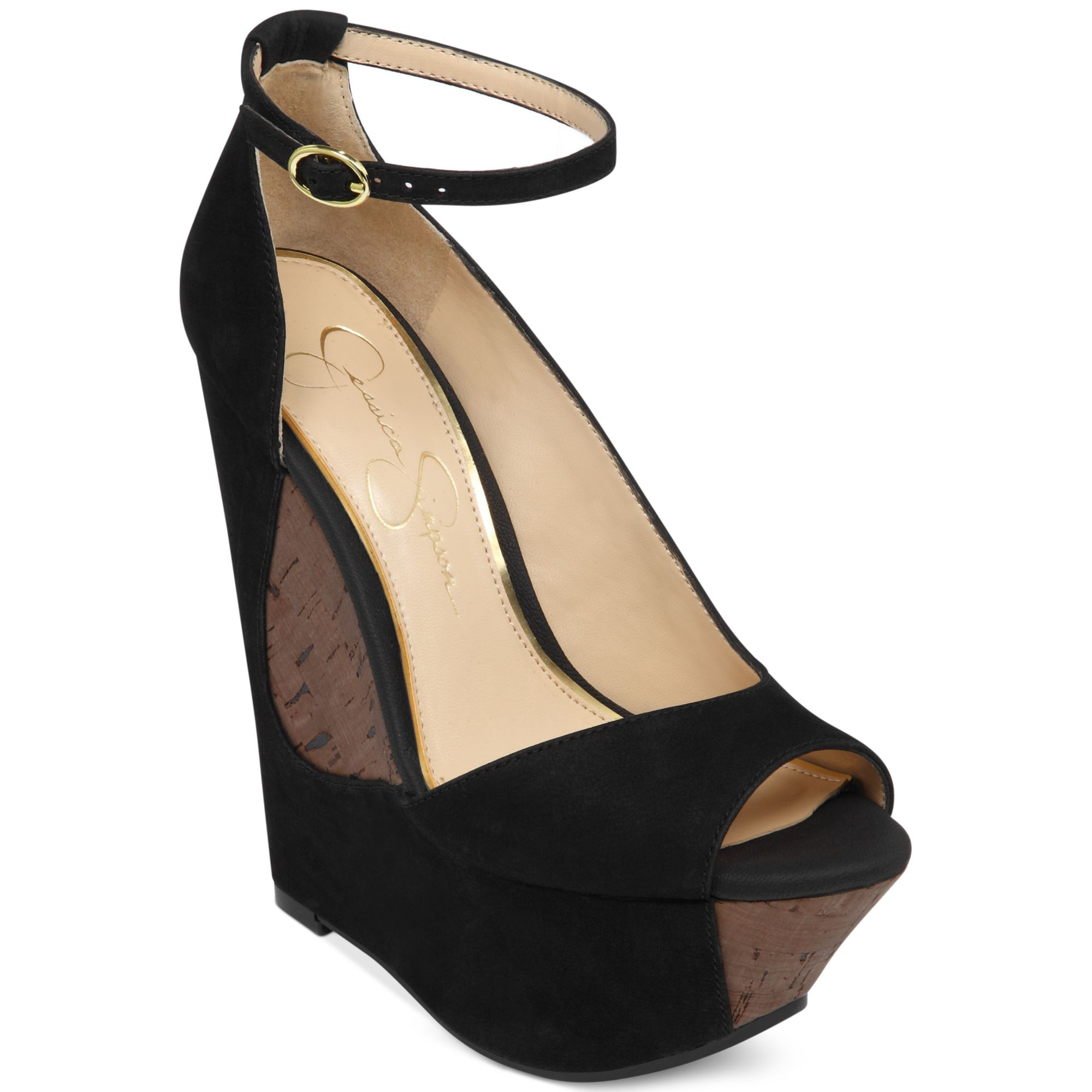 Jessica Simpson Maggey Ankle Strap Platform Wedges in ...