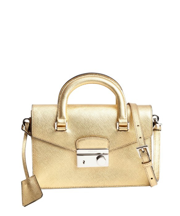 Gold Prada Handbag