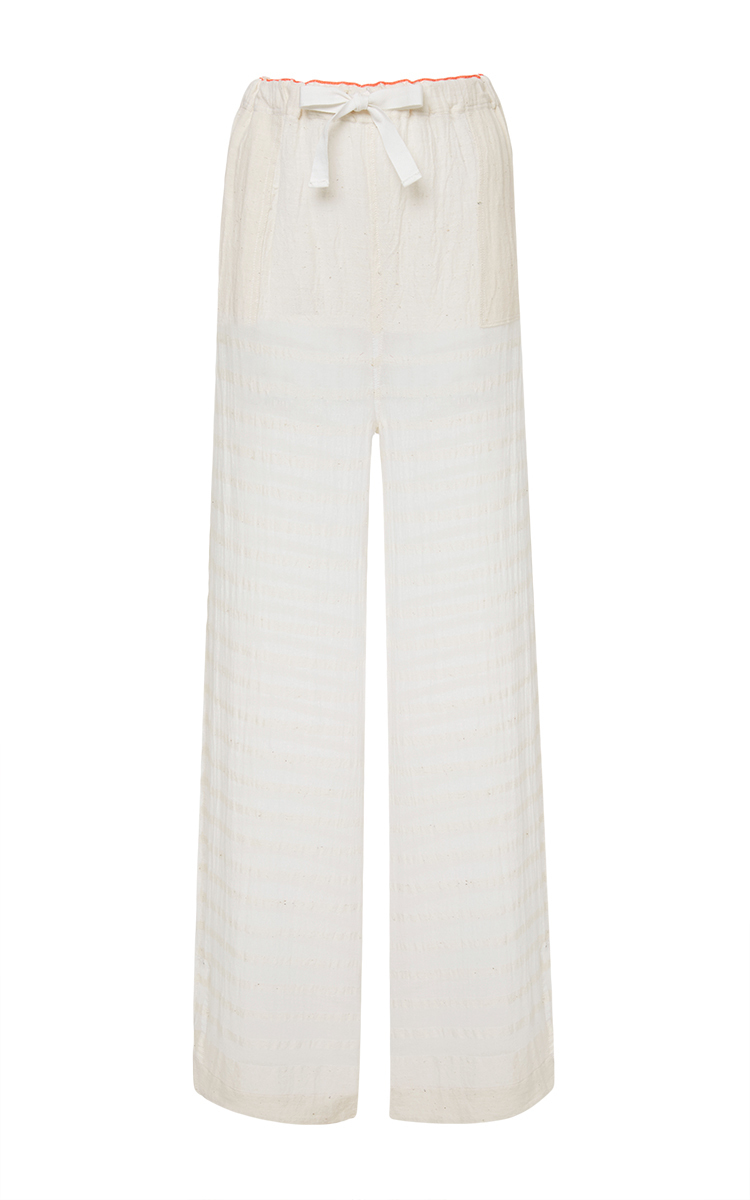 Lemlem White Cotton Gauze Pants in White | Lyst