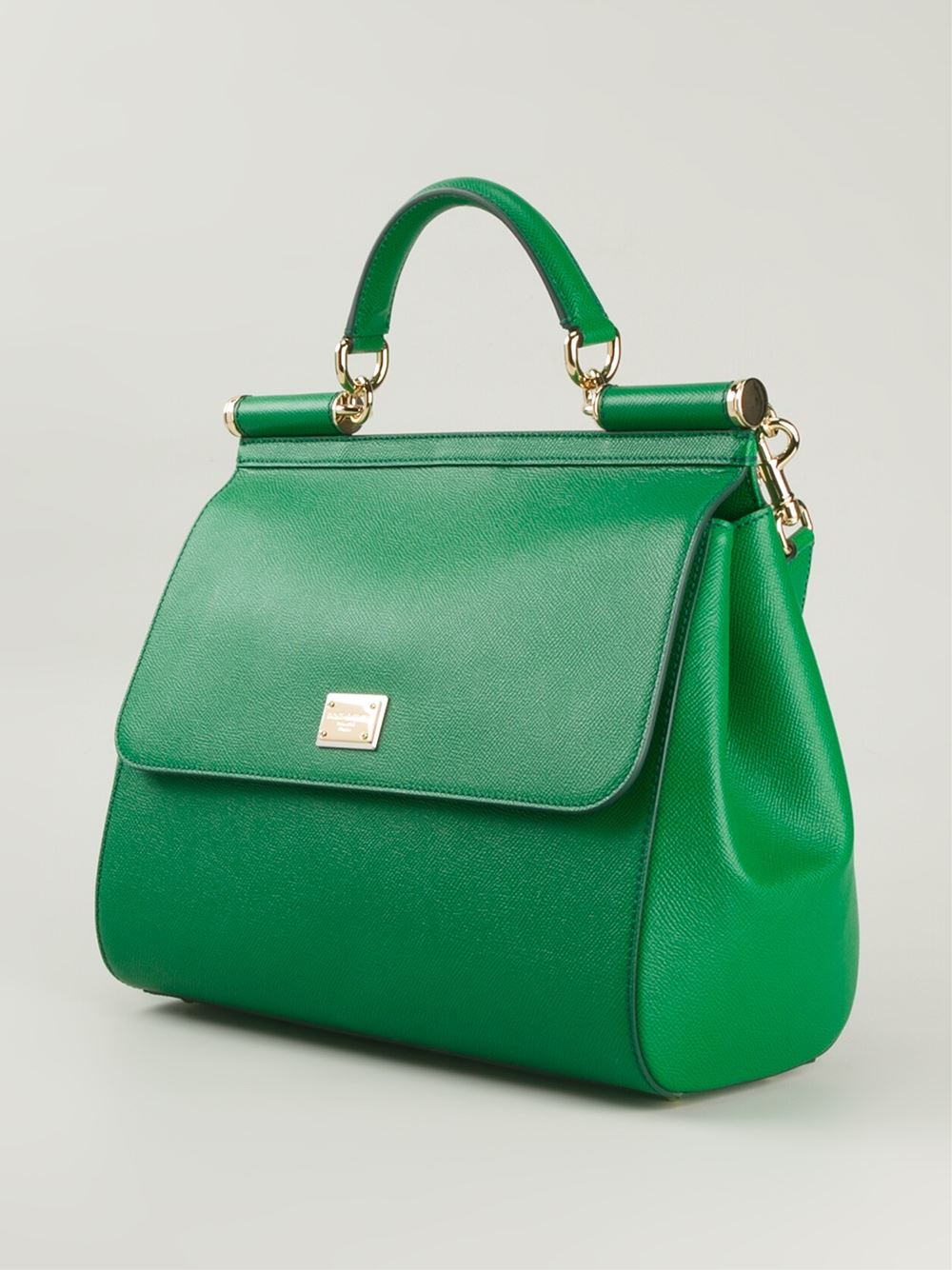 Lyst - Dolce   Gabbana Large  Sicily  Tote in Green 053b5966a2