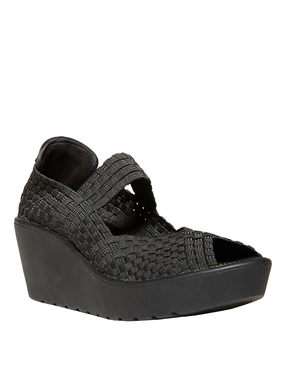 Lyst Steven By Steve Madden Brynn Woven Wedges In Black