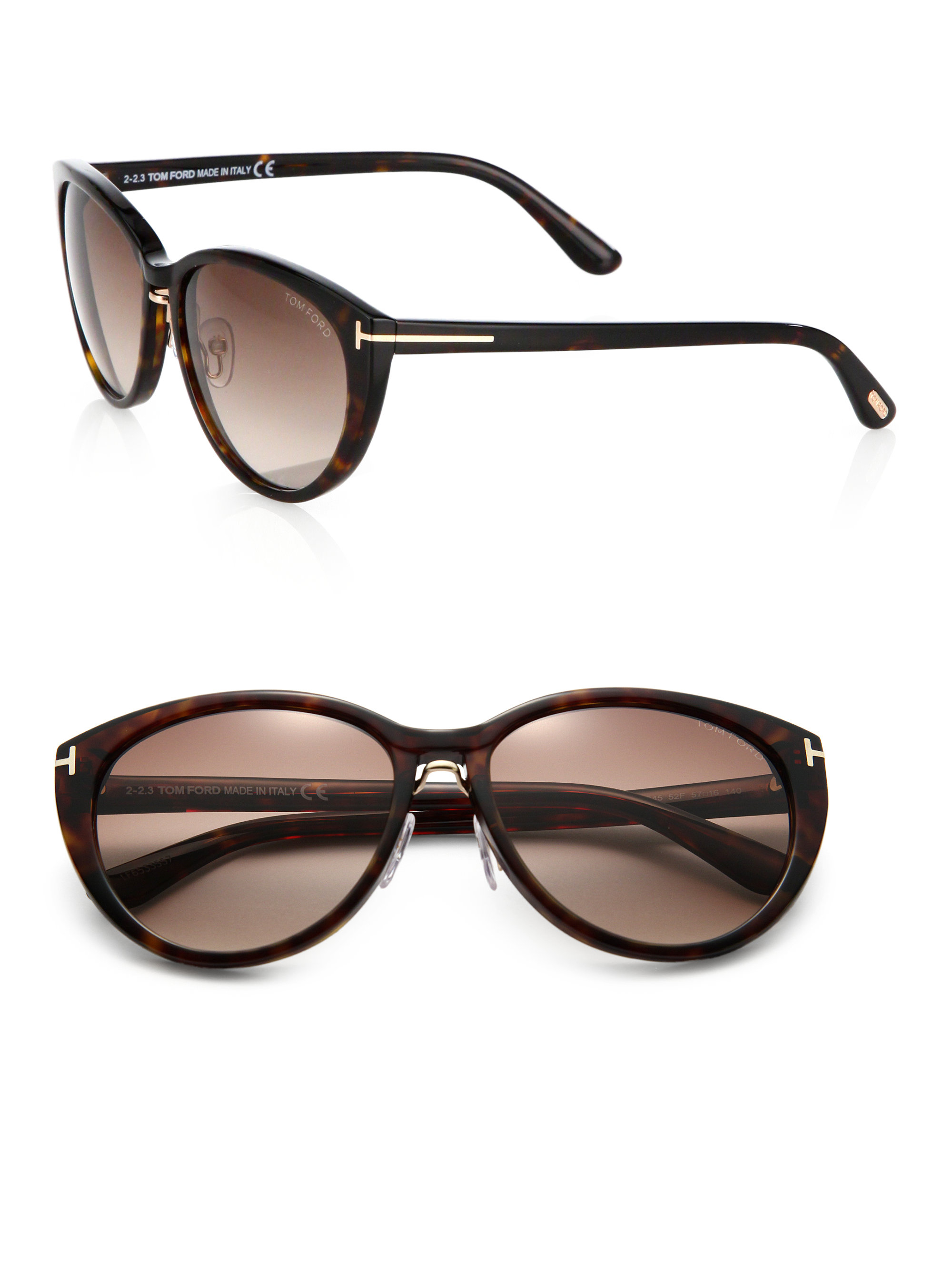 tom ford gina cat 39 s eye sunglasses in brown lyst. Cars Review. Best American Auto & Cars Review