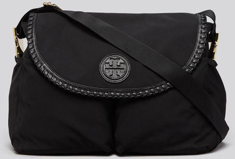 Tory Burch Diaper Bag Marion Nylon Messenger In Black Lyst