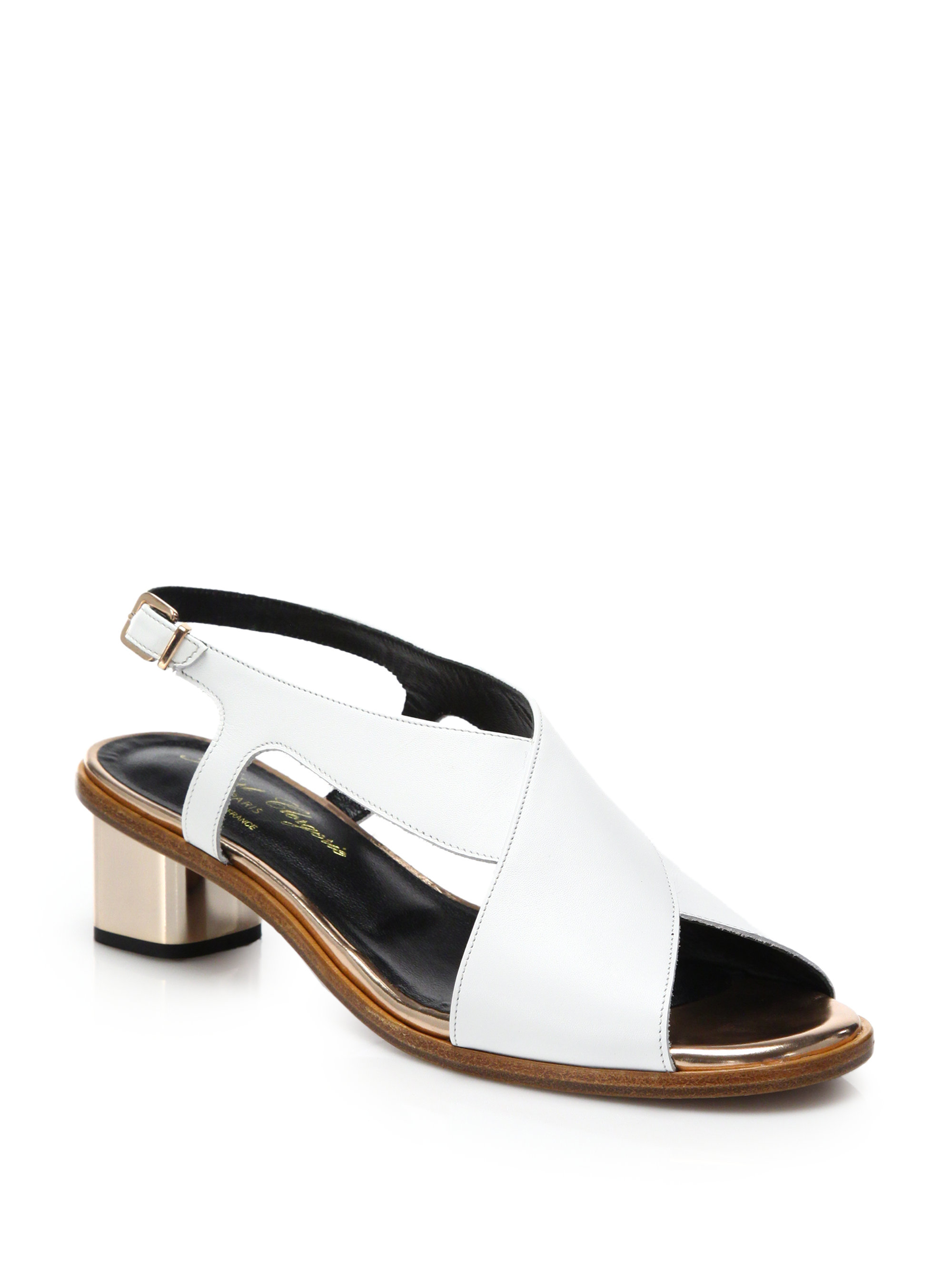 Robert Clergerie Clergerie Paris Leather Slingback Sandals cheapest high quality buy online buy cheap free shipping discount outlet locations 4x96AL5VRX