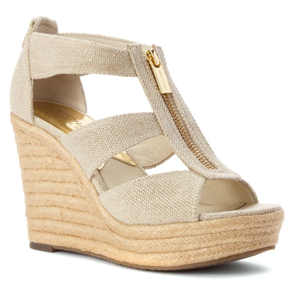 1a9bcf0a662ce Gallery. Previously sold at  Shoes.com · Women s Michael Kors Rory Women s  White Wedge ...
