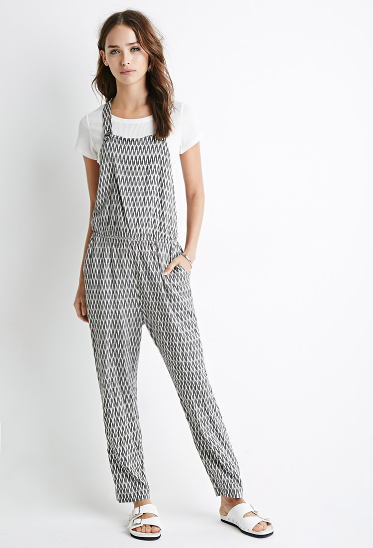 766f64f07b71 Lyst - Forever 21 Abstract Print Jumpsuit in Black