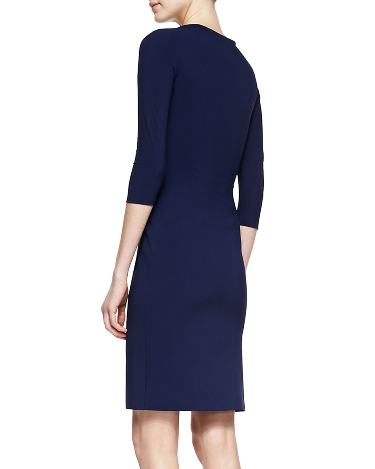 La Petite Robe Di Chiara Boni Fauxwrap Cocktail Dress Navy