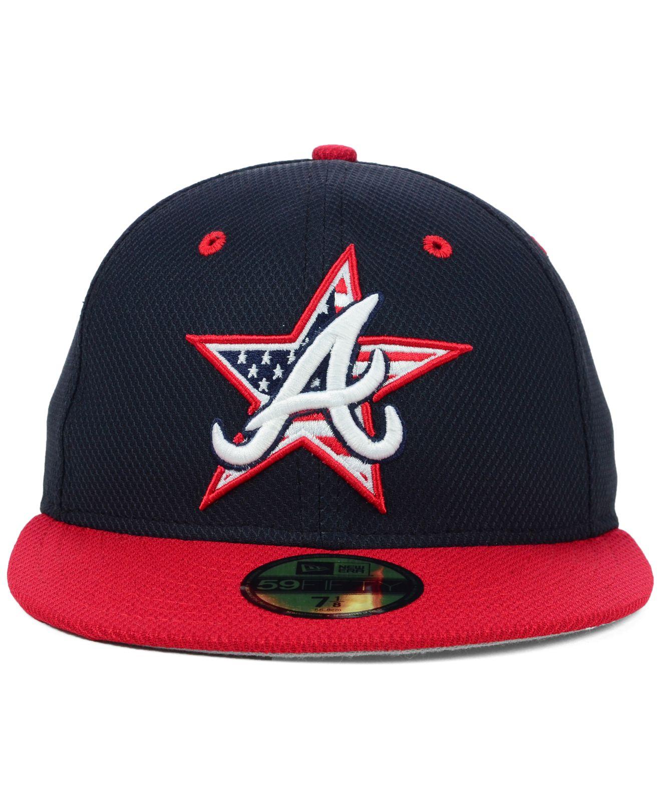 ... mens atlanta braves new era red 2018 stars stripes 4th of july 39thirty  amazon lyst ktz atlanta braves july 4th stars stripes 59fifty cap in 270d3  c4663 ... 7601156251d1