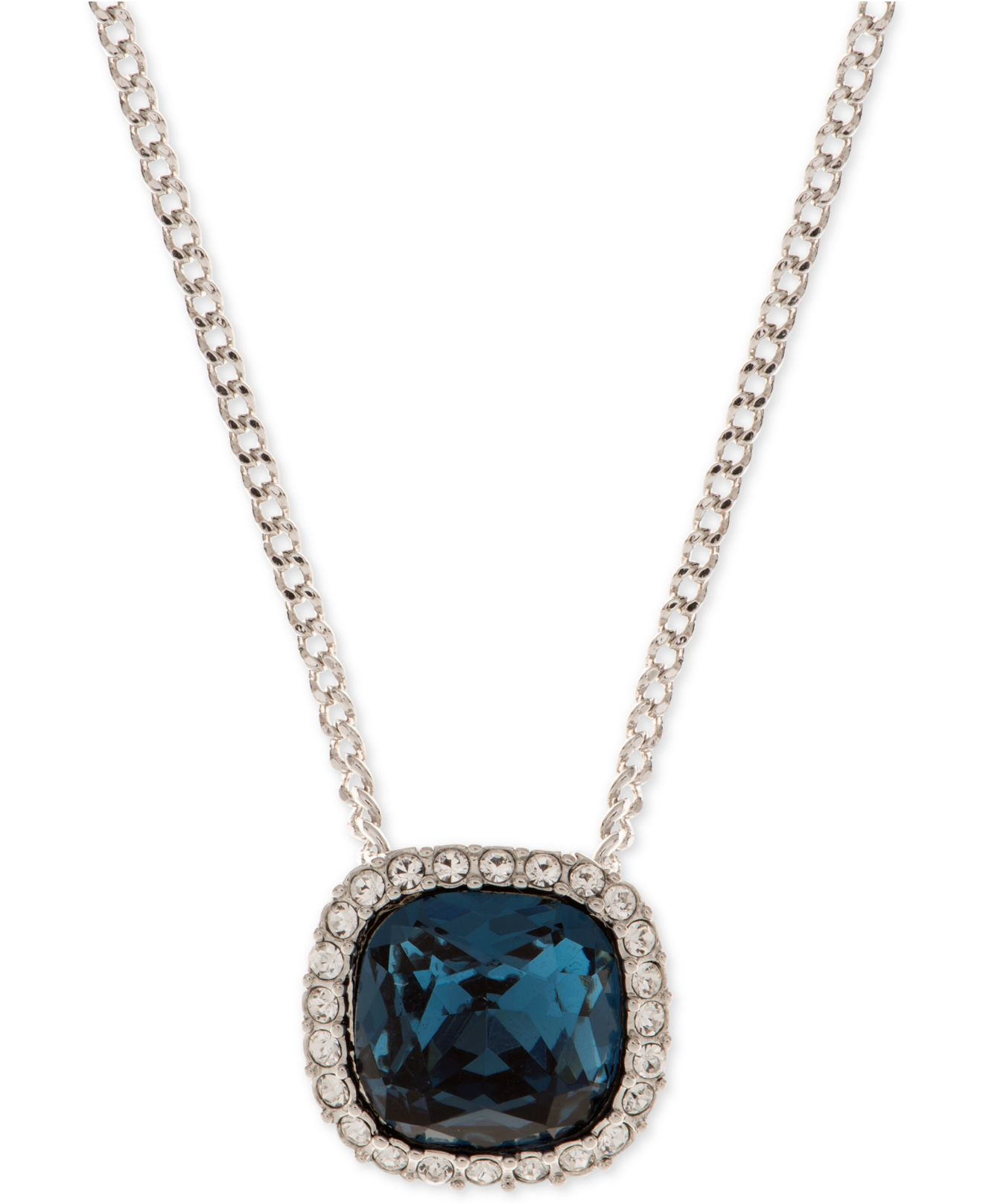 givenchy pendant necklace in blue lyst