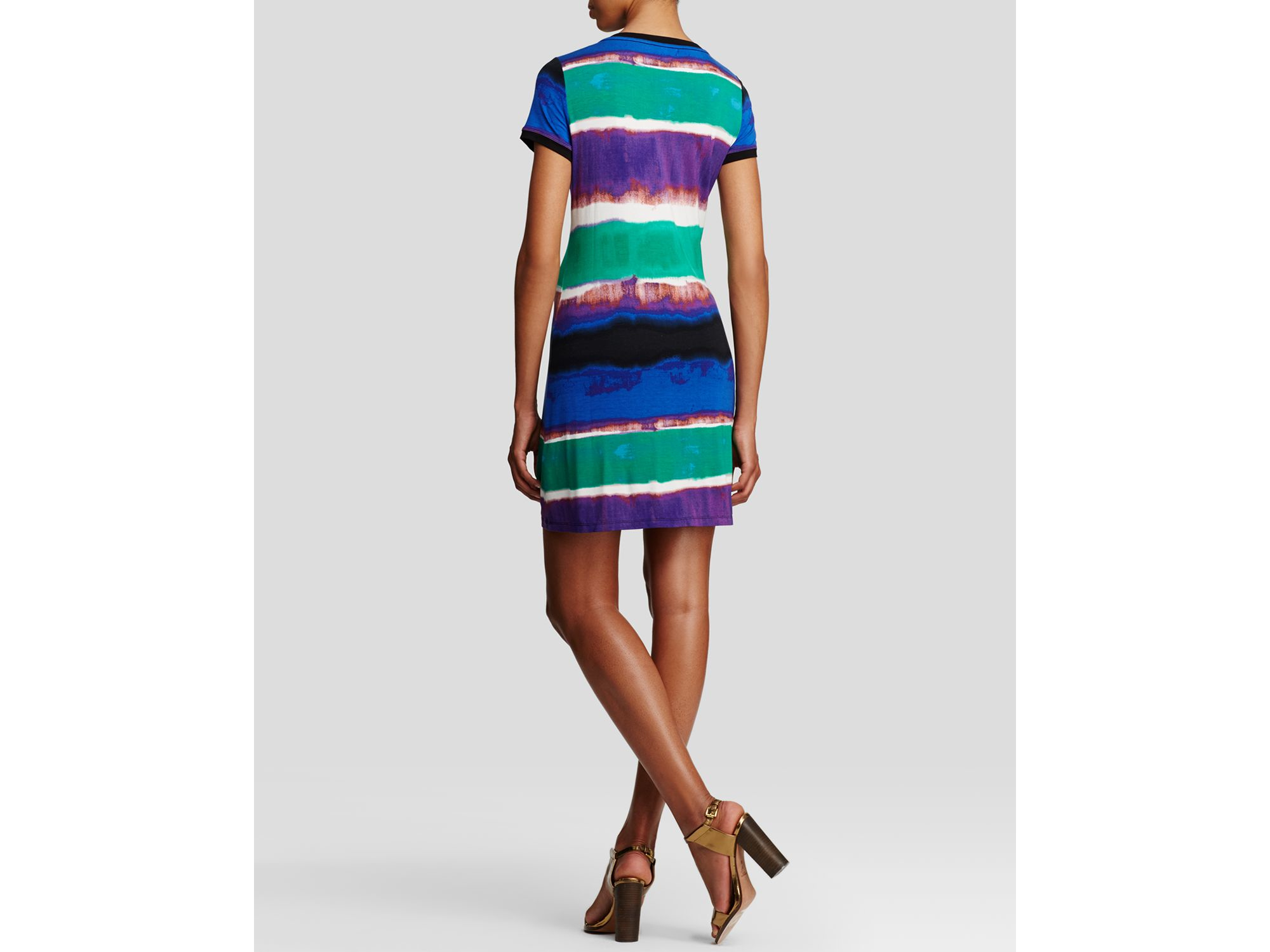 76875d7cc7f Calvin Klein Abstract Stripe Tee Dress - Bloomingdale s Exclusive in ...
