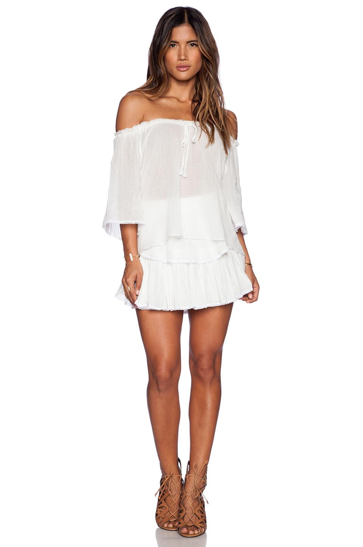 Loveshackfancy Ruffle Mini Skirt in White | Lyst