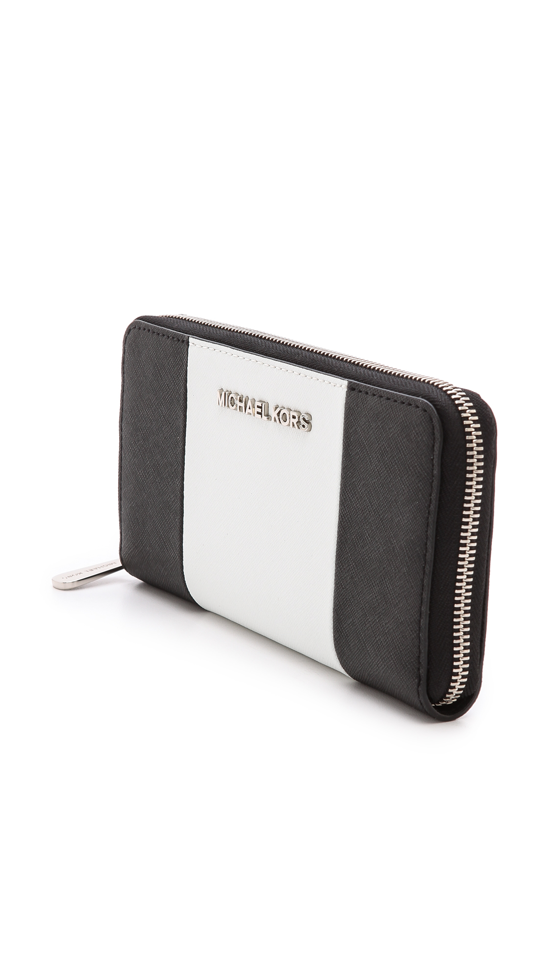 michael michael kors jet set continental wallet blackoptic. Black Bedroom Furniture Sets. Home Design Ideas