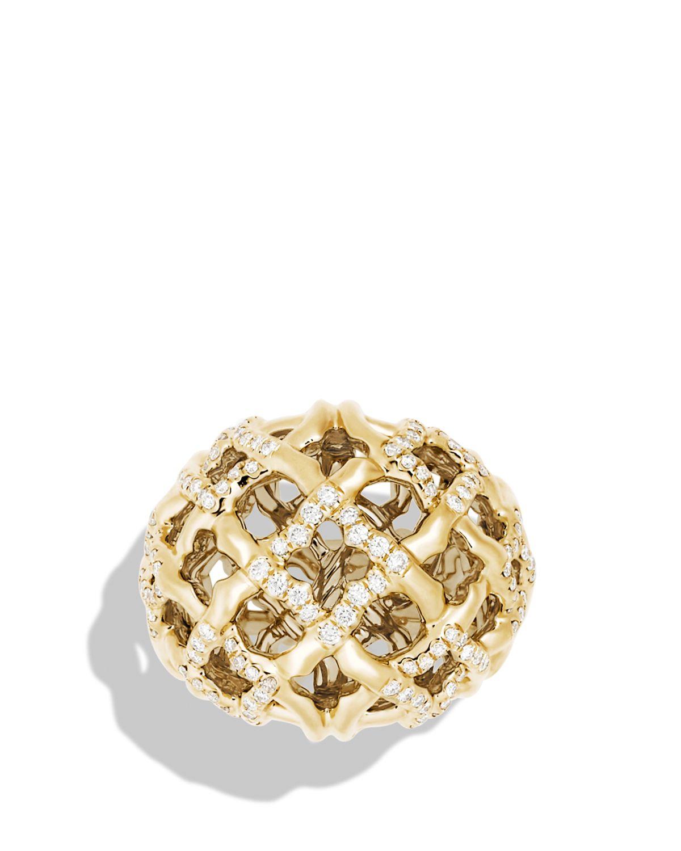 David Yurman Quatrefoil Ring With Diamonds