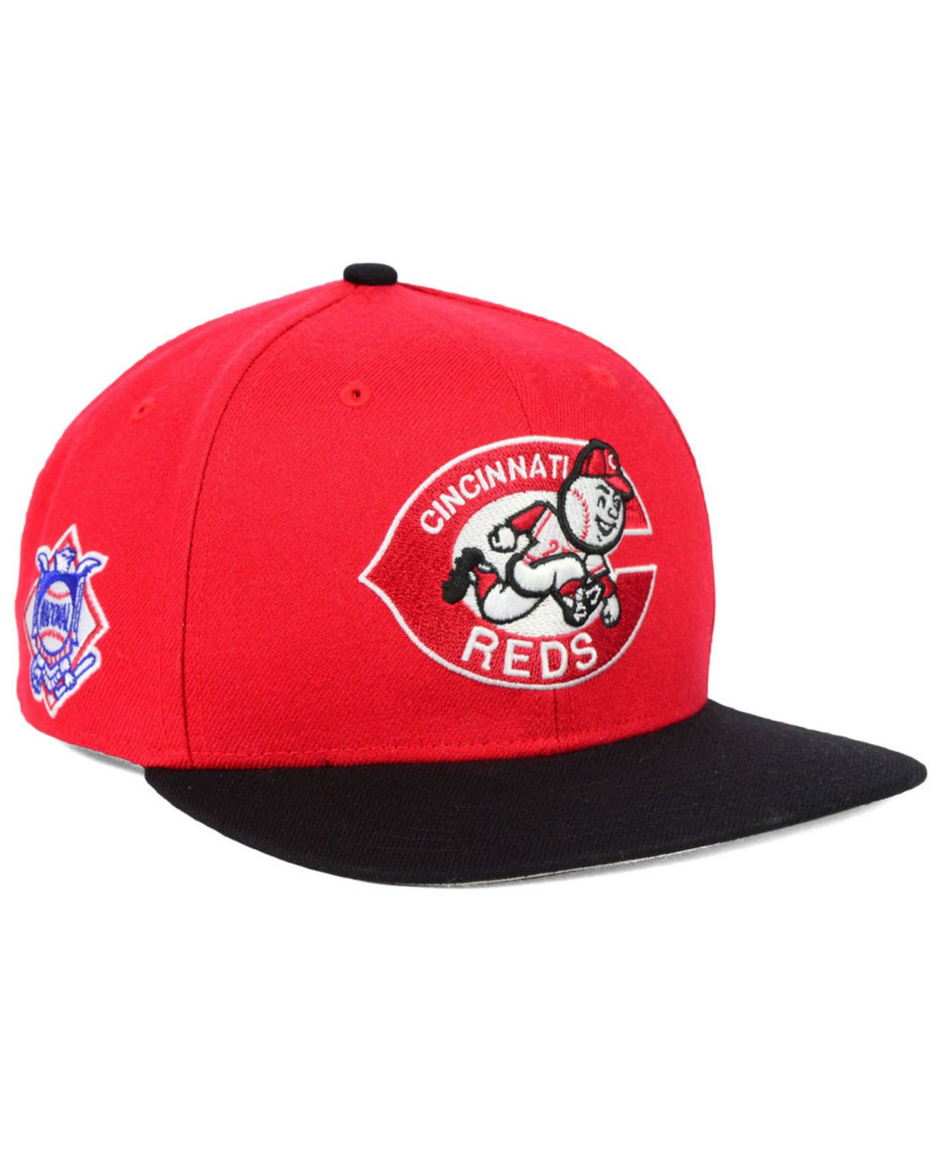 low priced 2153c 653f5 ... closeout lyst 47 brand cincinnati reds sure shot snapback cap in red  for men 0be0b 3b501