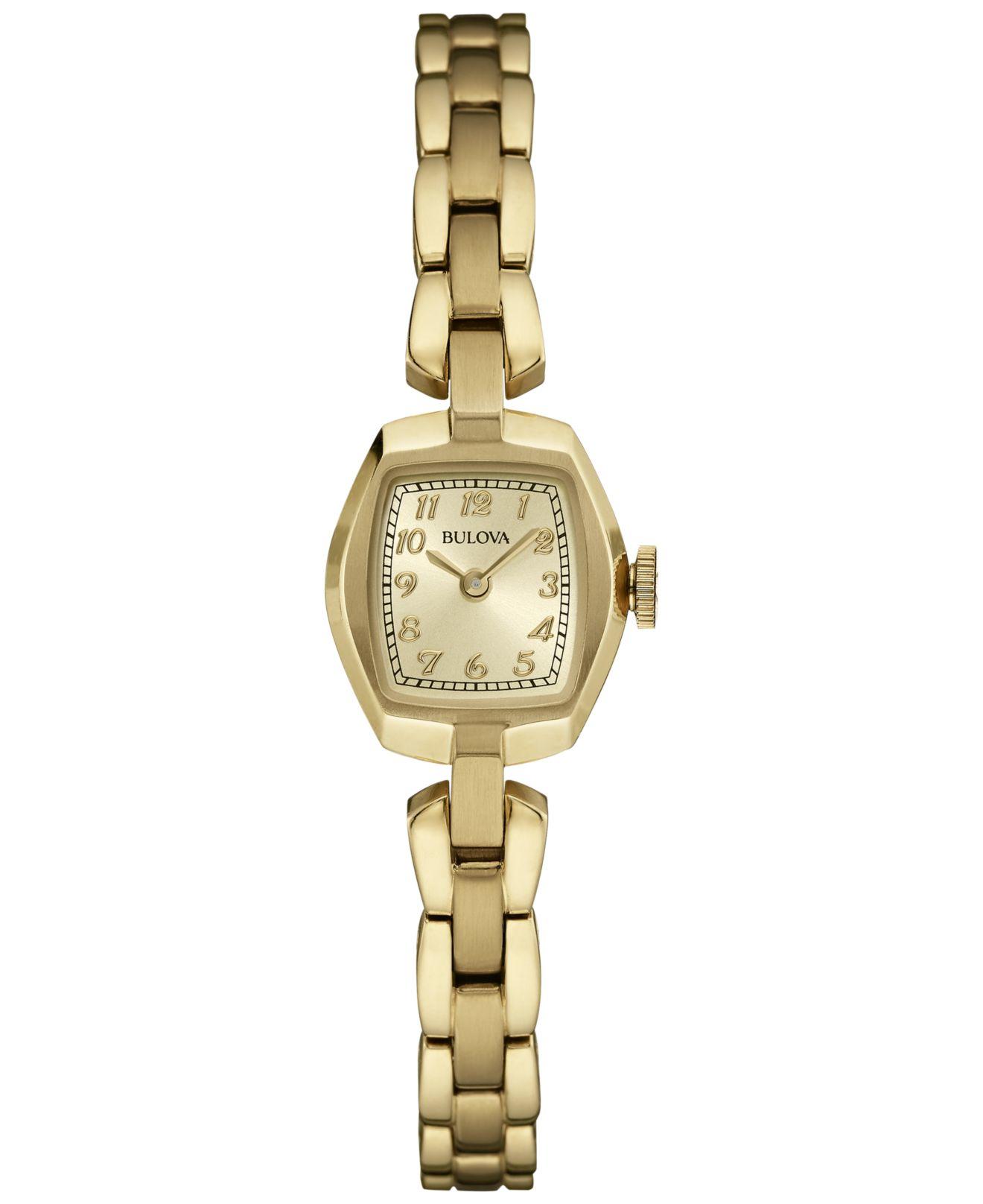 bulova s gold tone stainless steel bracelet