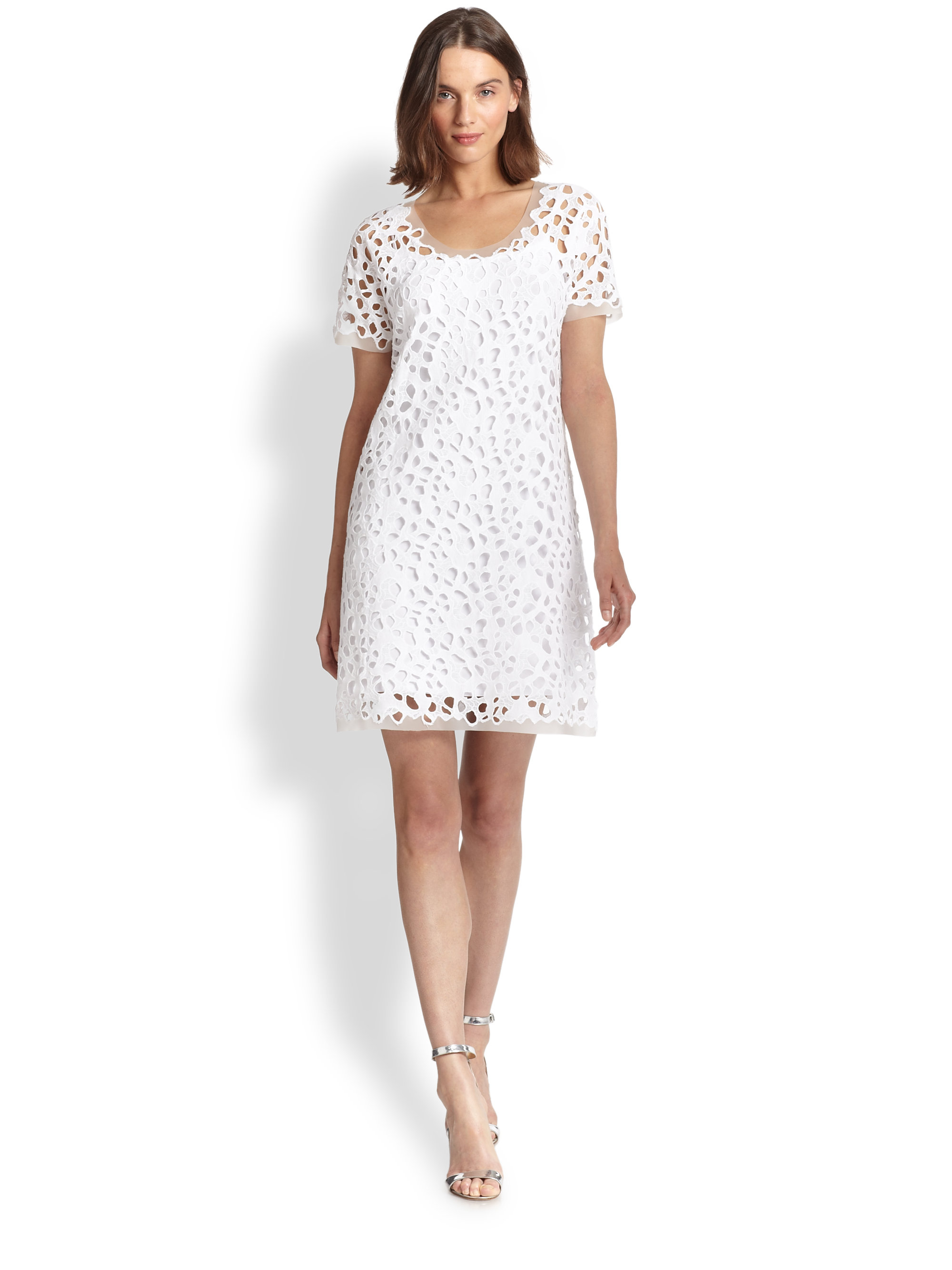 Lyst Elie Tahari Maissa Lace Dress In White