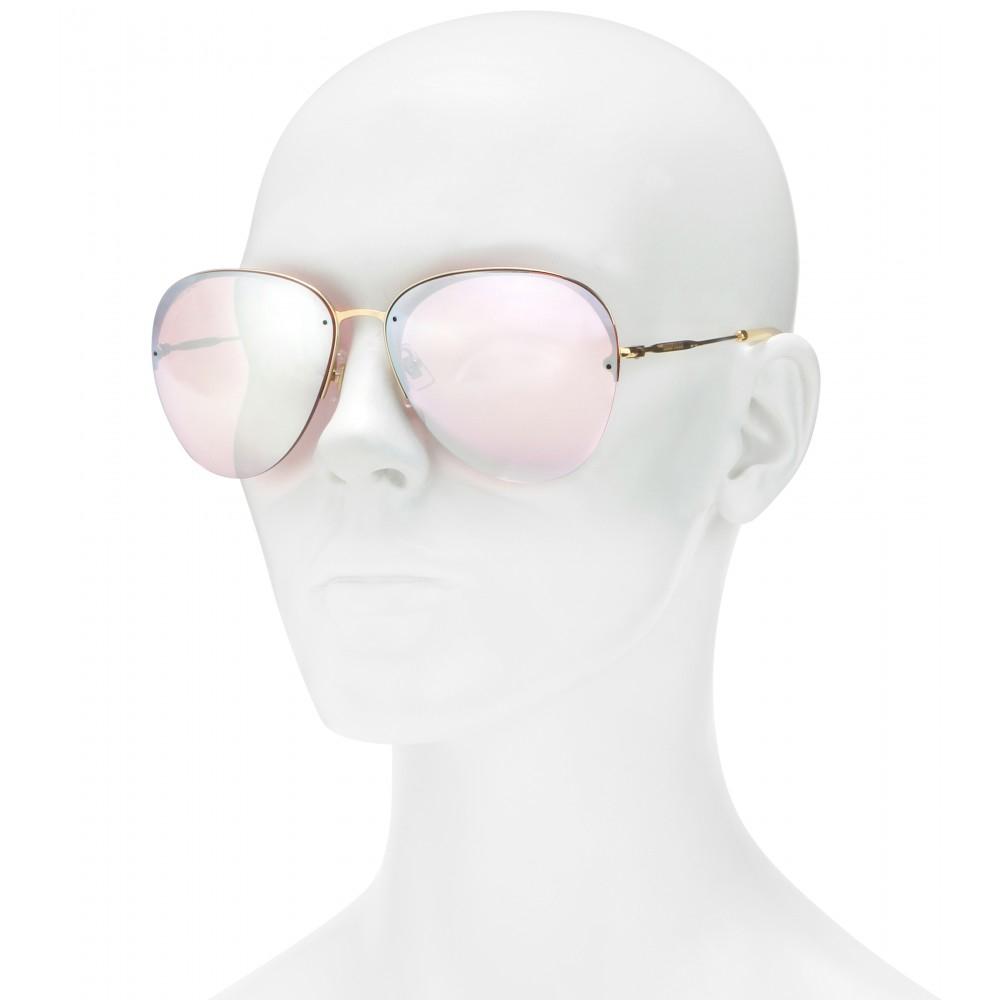 Miu Miu Pink Aviator Sunglasses