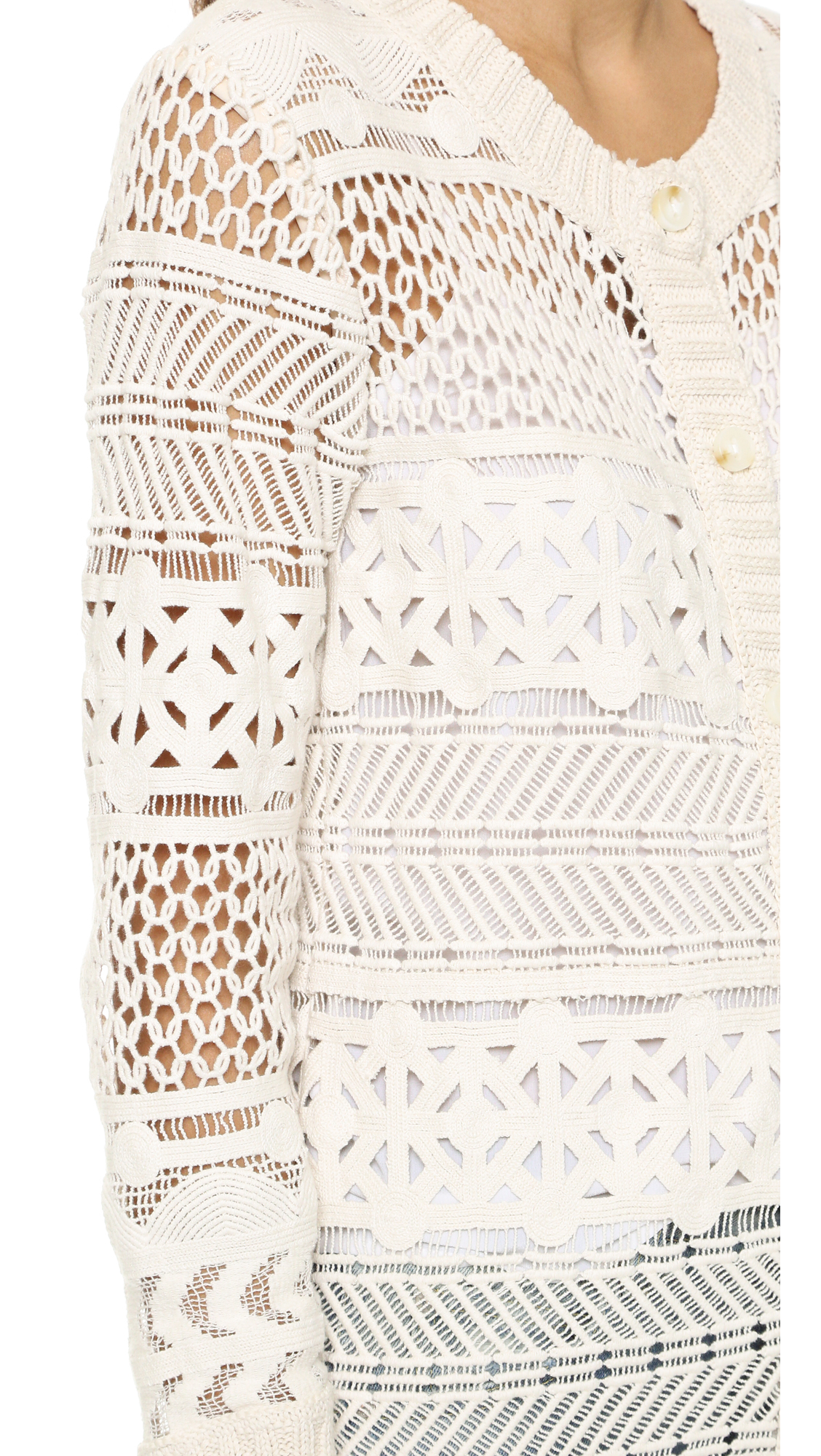 Sea Long Lace Cardigan in White   Lyst