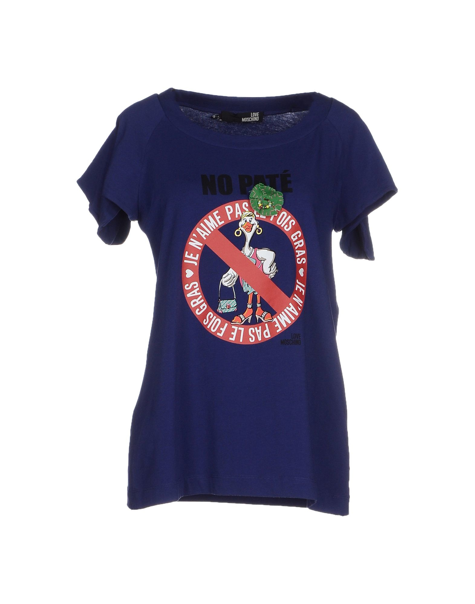 love moschino t shirt in blue dark blue lyst. Black Bedroom Furniture Sets. Home Design Ideas
