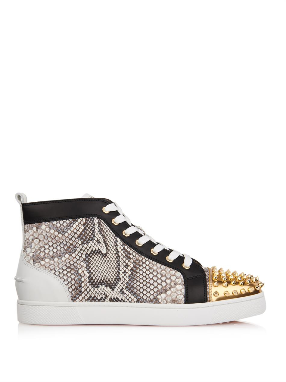 sneakers louboutin python
