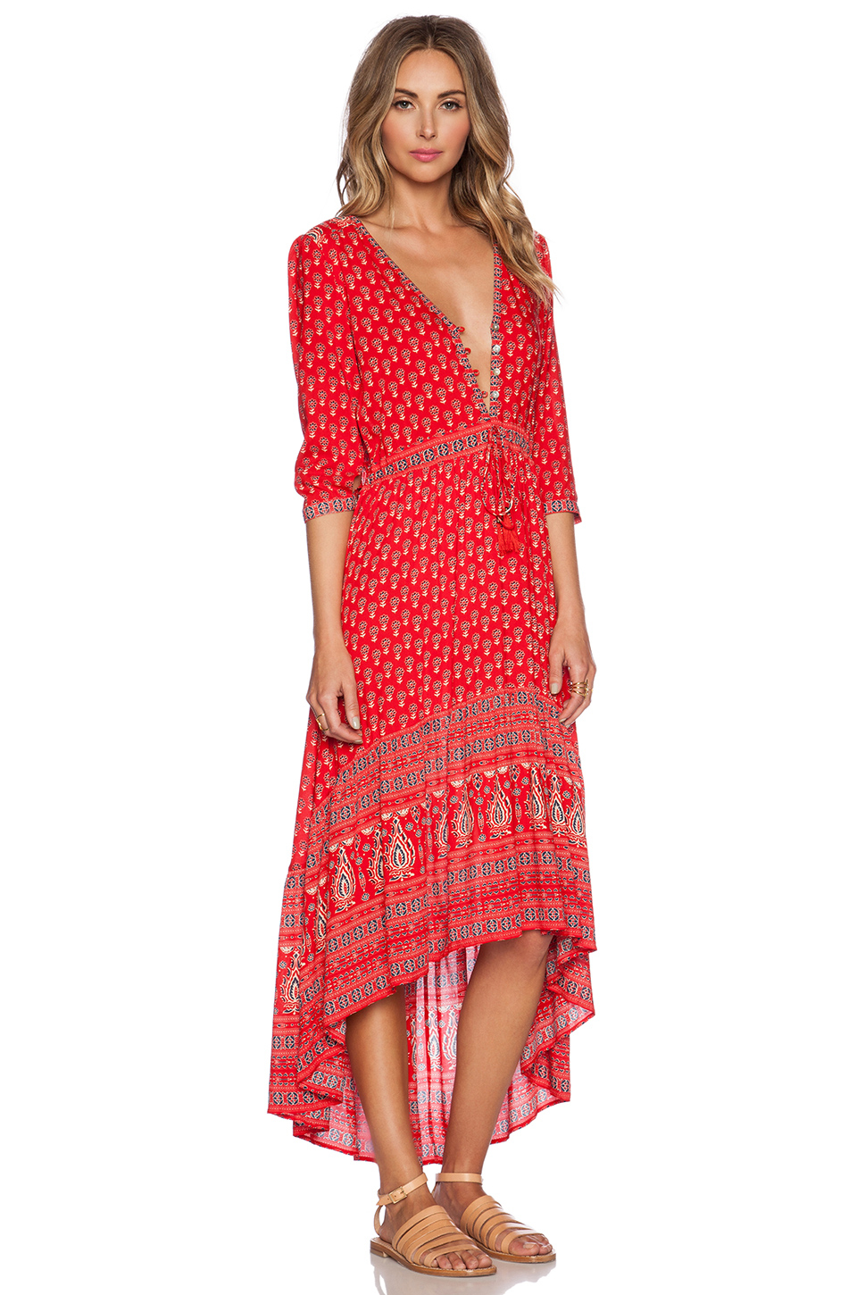 Spell & the gypsy collective Gypsiana Maxi Dress in Red | Lyst