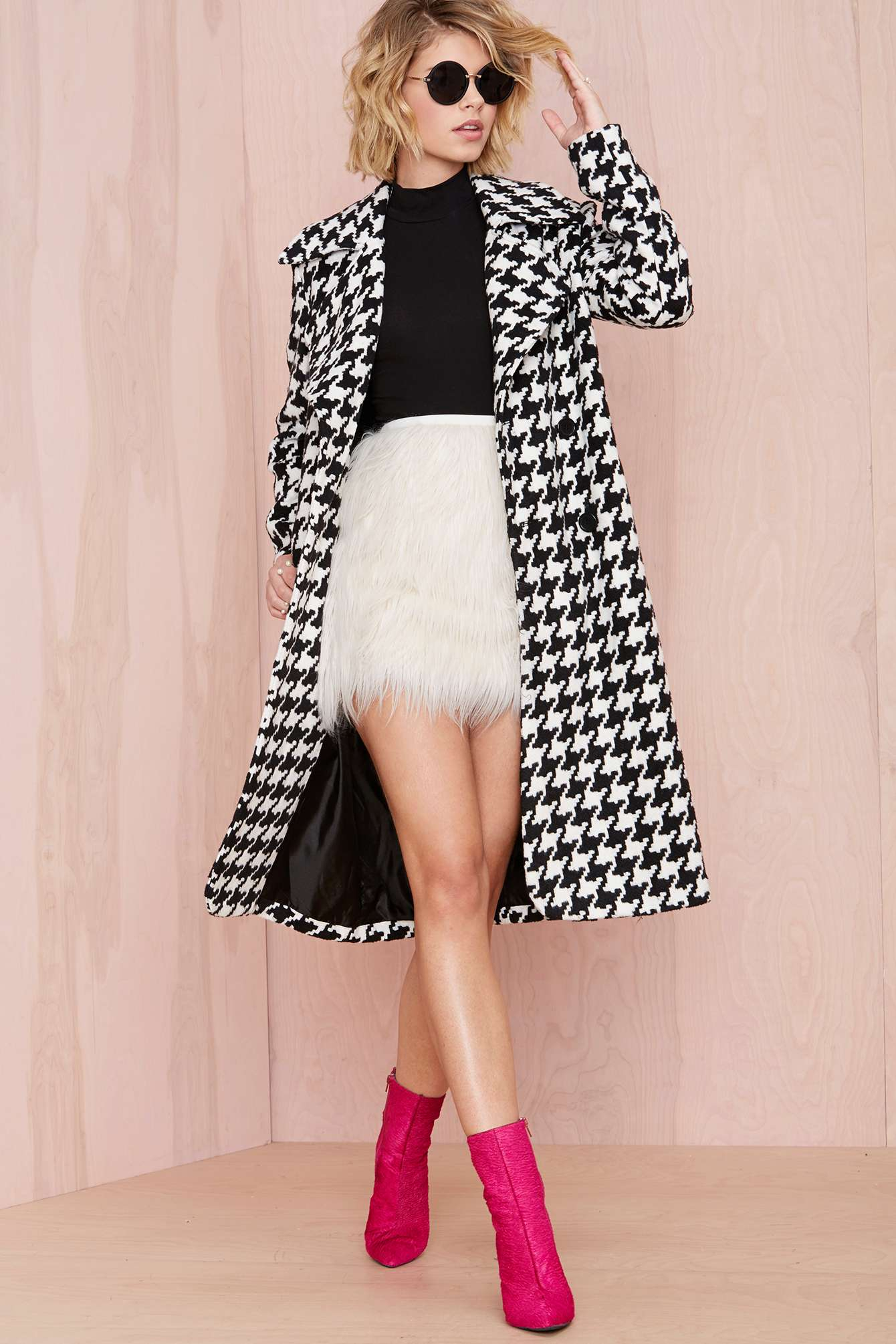 a89d2d096e Nasty Gal Faux Fur Real Skirt in White - Lyst