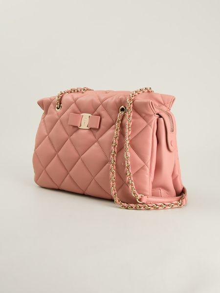 Pink Quilted Shoulder Bag 120