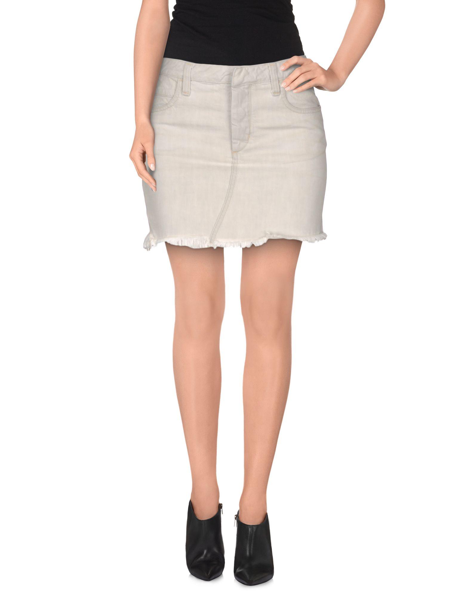 Grey Denim Skirt 16