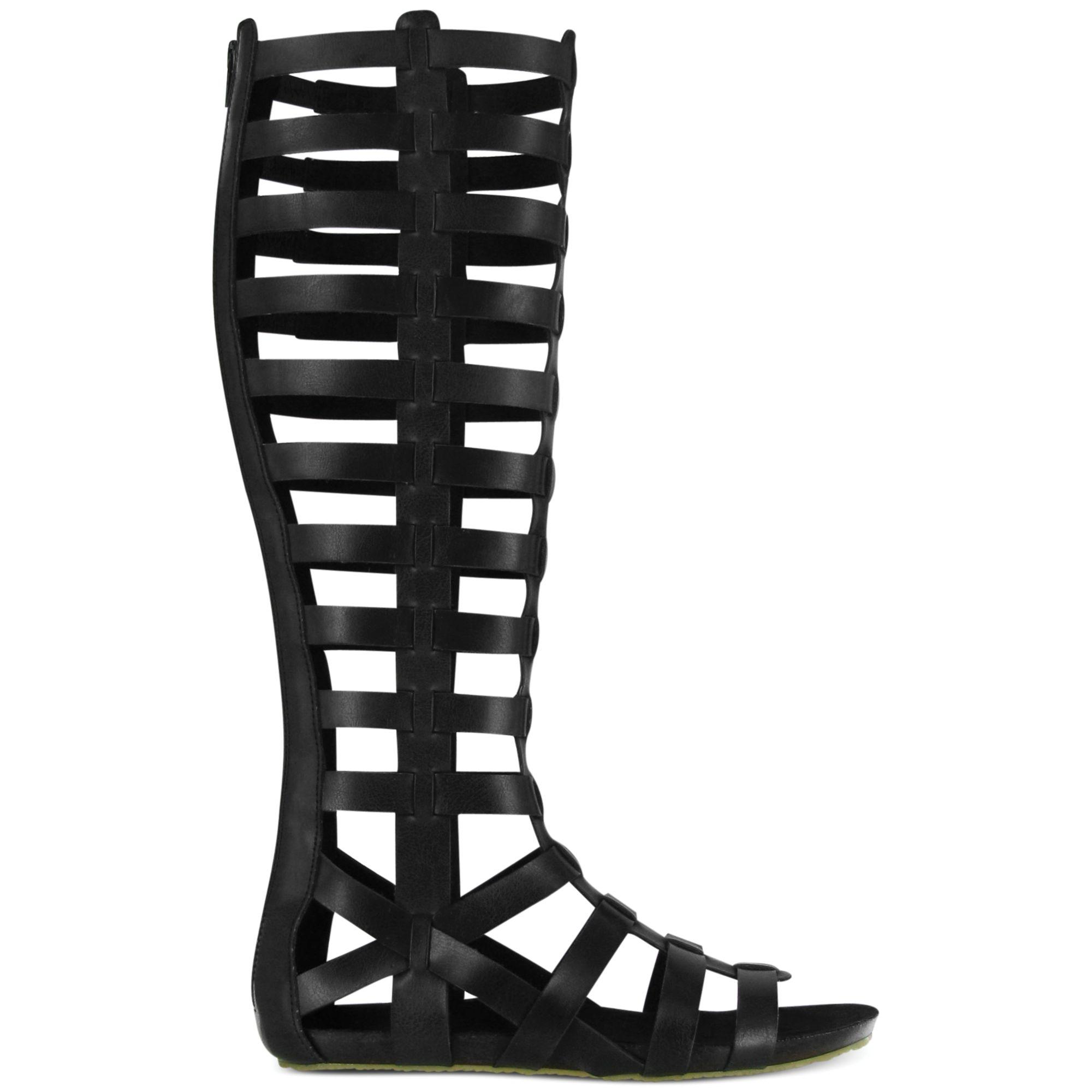 Mia Glitterati Tall Gladiator Sandals In Black Lyst