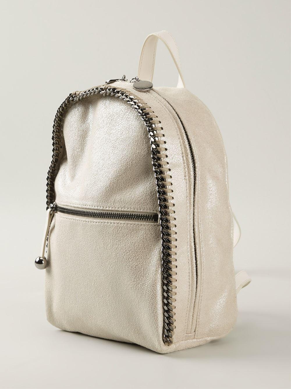 stella mccartney 39 falabella 39 backpack in natural lyst. Black Bedroom Furniture Sets. Home Design Ideas