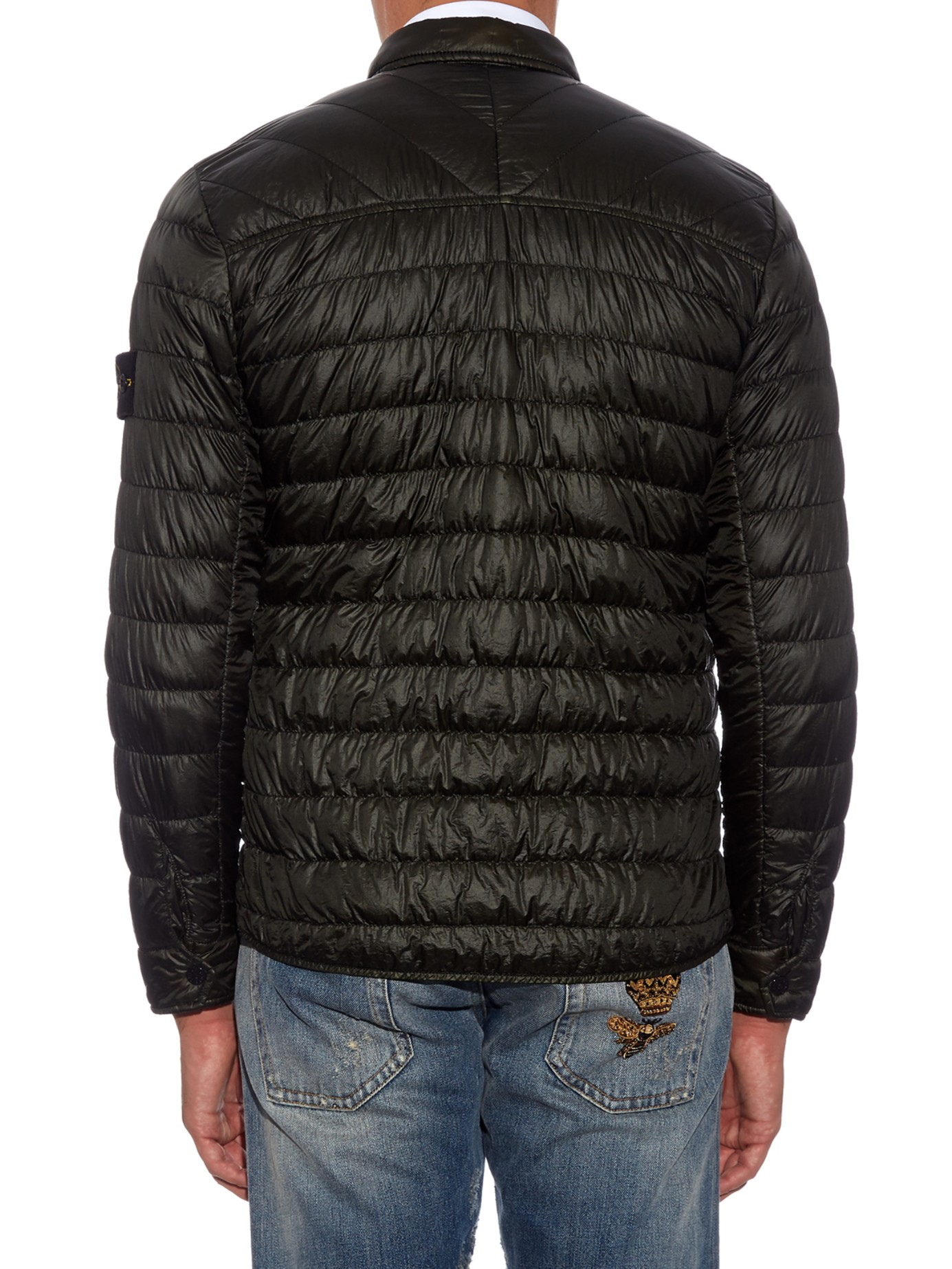 Stone island Quilted-nylon Jacket in Green for Men | Lyst : quilted nylon jacket - Adamdwight.com