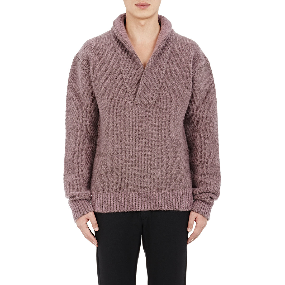 haider ackermann men 39 s shawl collar sweater in pink for. Black Bedroom Furniture Sets. Home Design Ideas