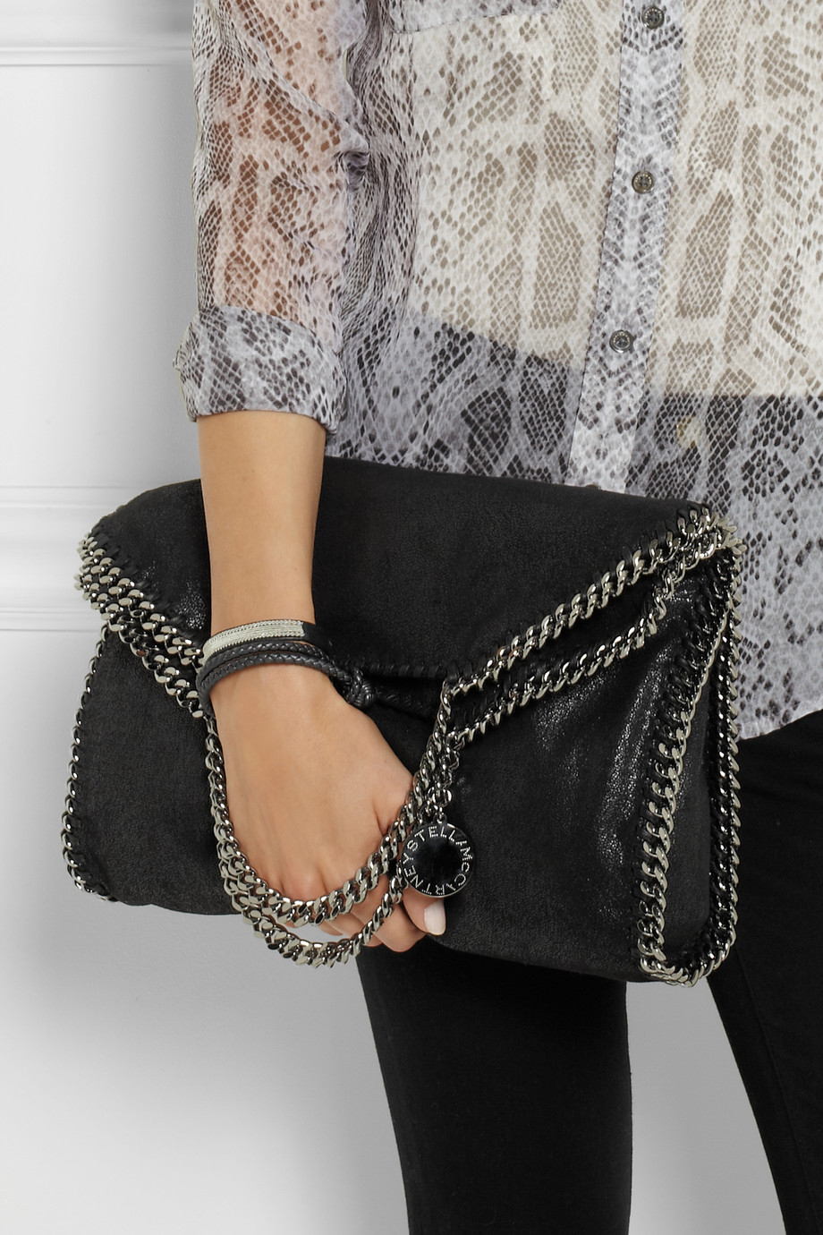 f3a72592136 Stella McCartney The Falabella Faux Brushed-Leather Shoulder Bag in ...