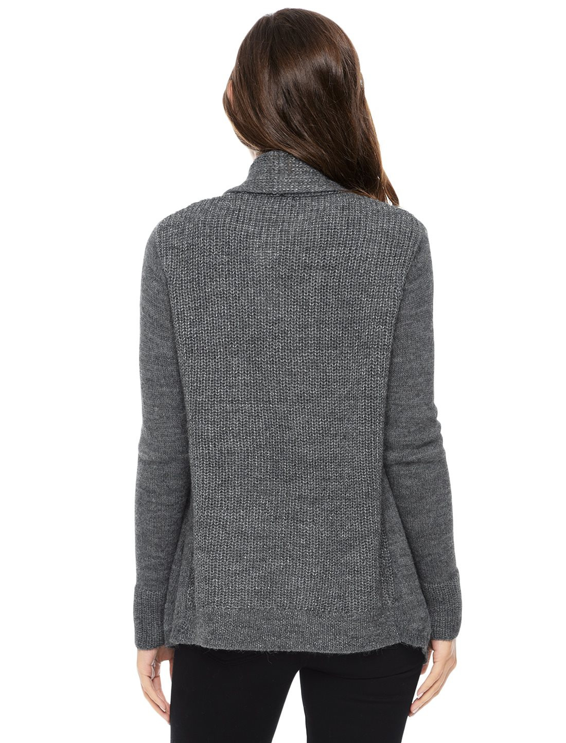 Two By Vince Camuto Metallic Cowl Neck Sweater in Grey
