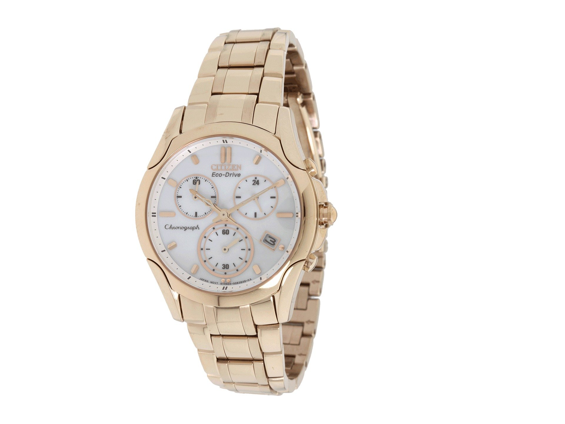 Citizen Fb1153-59a Eco-drive Rose Gold Tone Chronograph ...