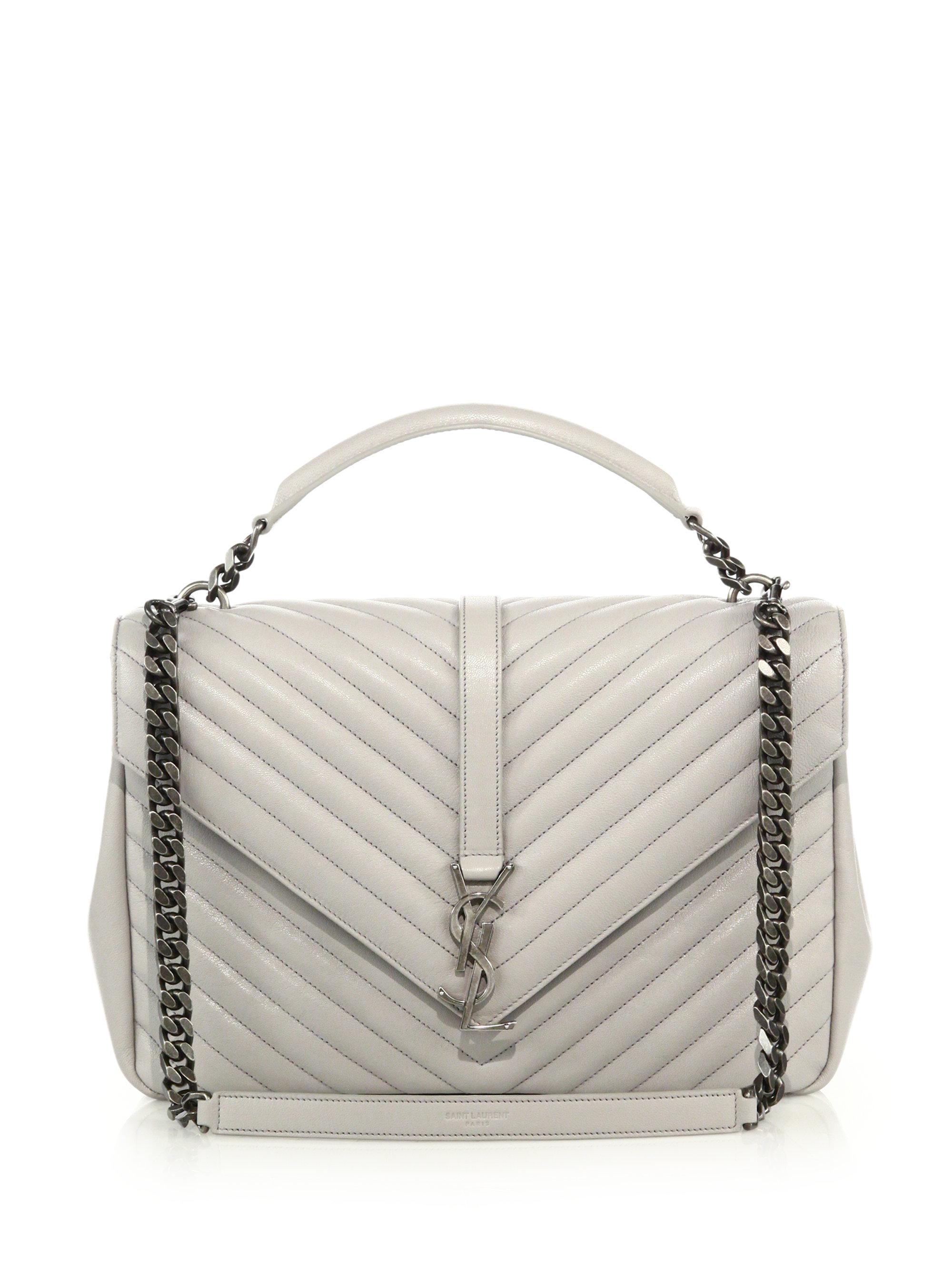 ysl replica handbag - Saint laurent Monogram Medium Matelasse Leather College Bag in ...