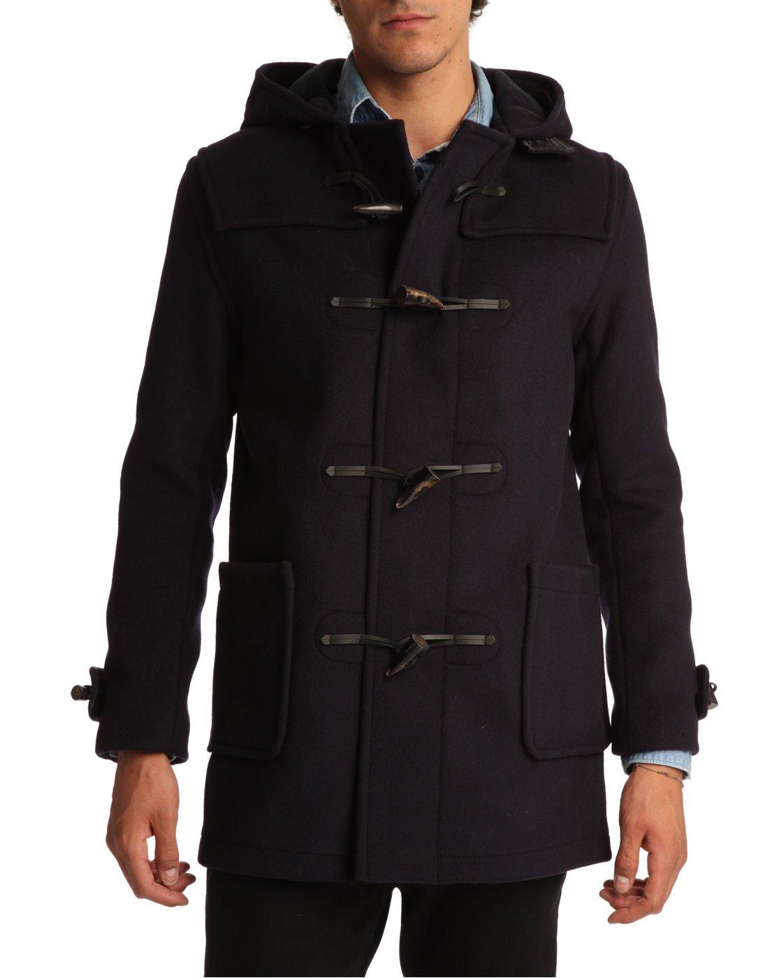 Mens Navy Blue Duffle Coat