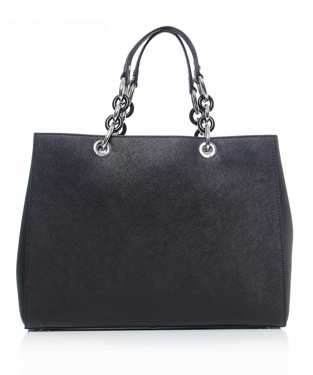 michael michael kors cynthia large shopper bag in black lyst. Black Bedroom Furniture Sets. Home Design Ideas