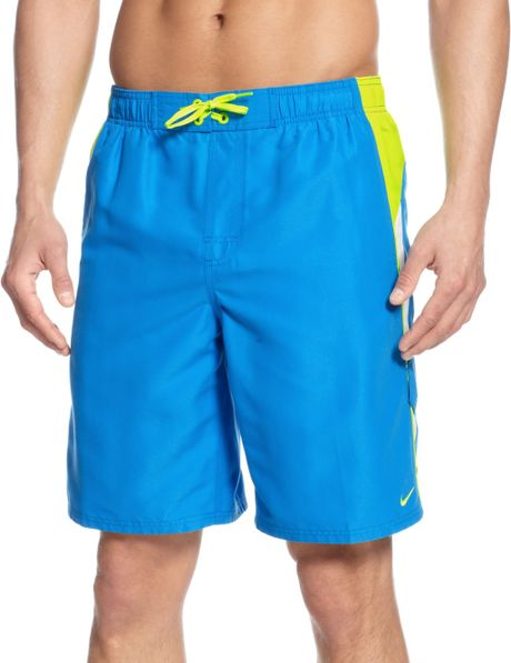 Nike Core Colorblocked 9 Volley Boardshorts in Blue for ...