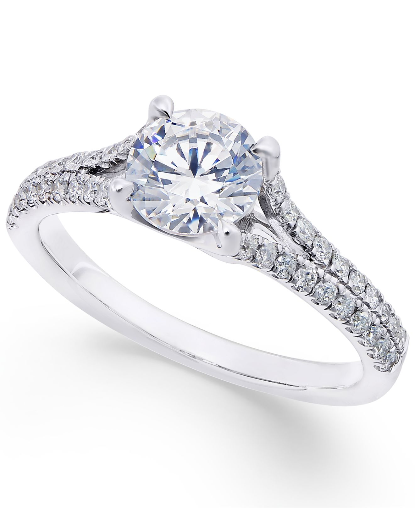 1ct Diamond Bands: X3 Certified Diamond Engagement Ring (1-1/3 Ct. T.w.) In