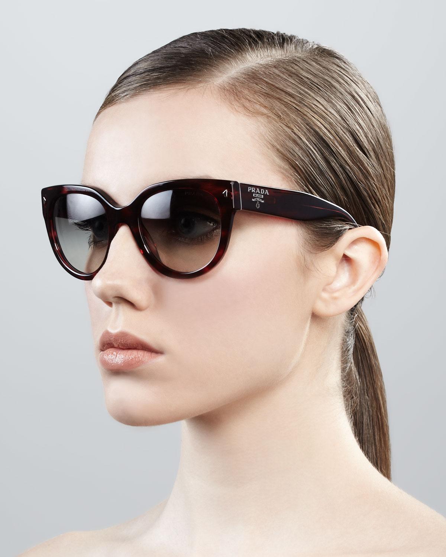 65edf5fbb78 ... cheapest lyst prada cat eye retro rectangle sunglasses f1b60 94d7f