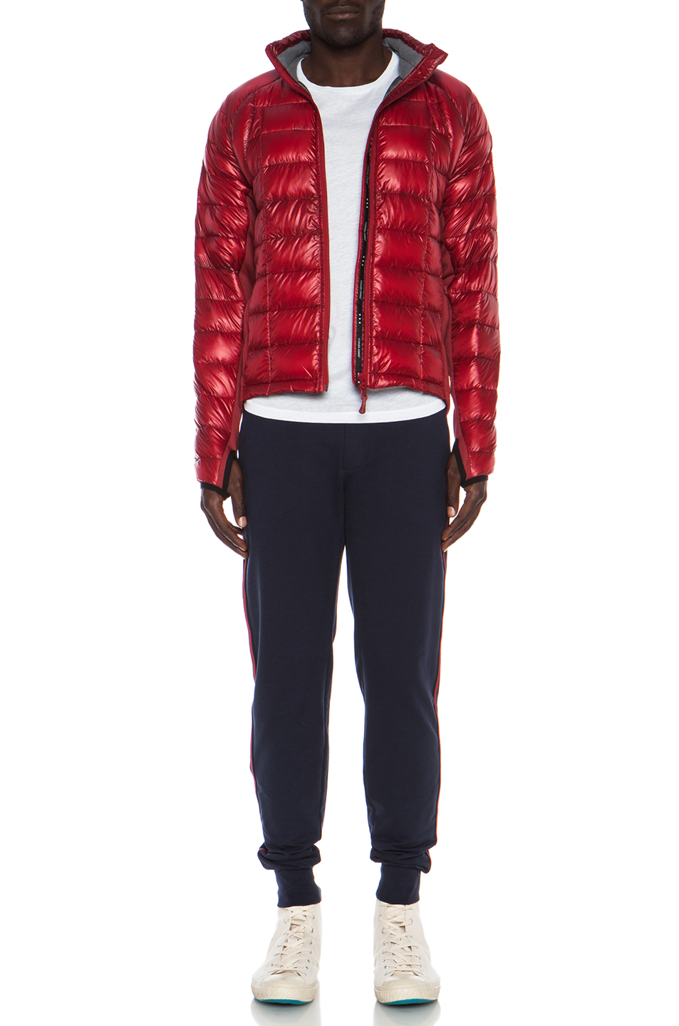 019ec3dc0106 ... coupon code lyst canada goose hybridge lite nylon jacket in red 72674  e4a9d