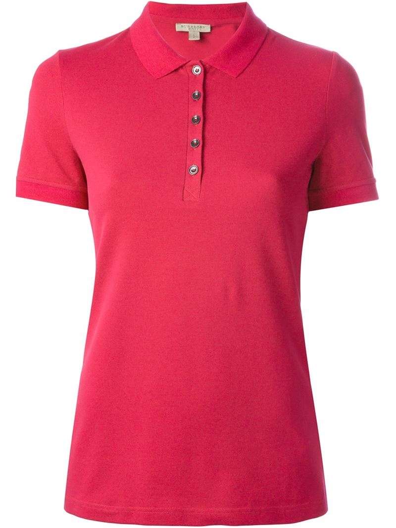 Lyst Burberry Brit Classic Polo Shirt In Pink