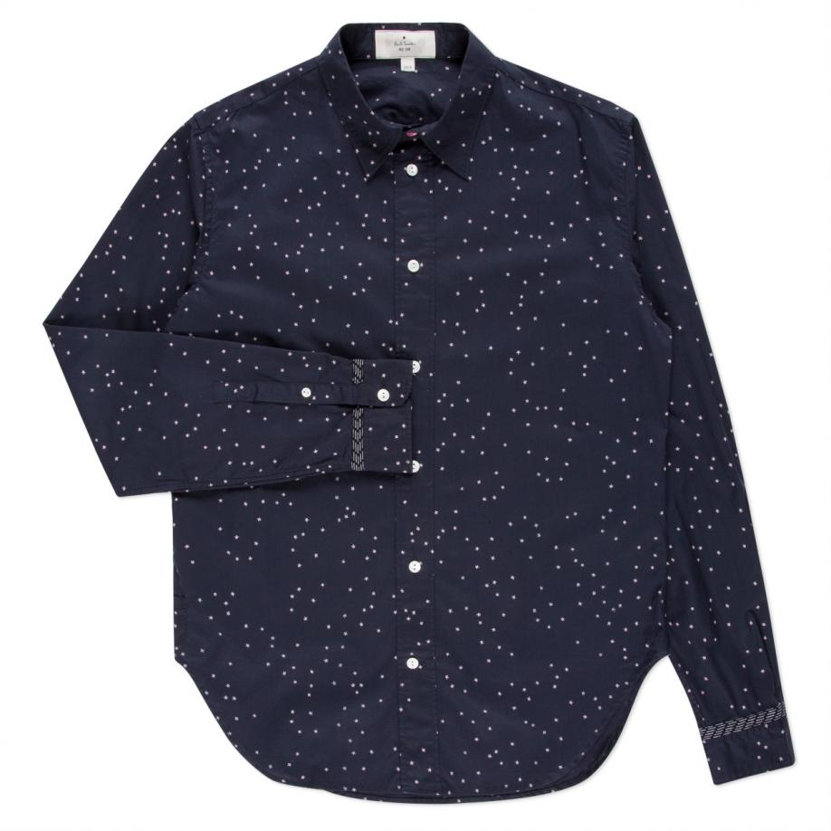 Paul Smith Men 39 S Navy 39 Stars And Moon 39 Print Shirt In Blue