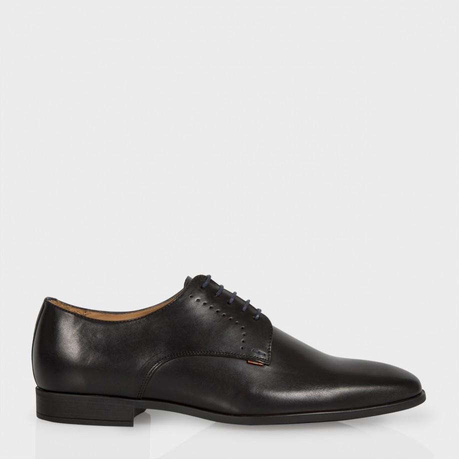 paul smith s black leather derby shoes in